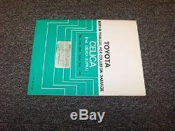 1982-1983 Toyota Celica & Supra Shop Service Collision Damage Repair Manual