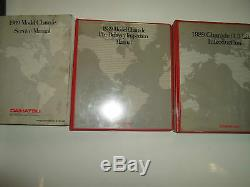 1989 Daihatsu Charade Service Repair Manual 3 VOLUME SET WATER DAMAGED OEM 89