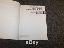 2002 2003 2004 Toyota Corolla Shop Service Collision Damage Repair Manual CE LE