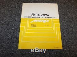 2006 2007 2008 Toyota Matrix Shop Service Collision Damage Repair Manual XR XRS