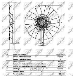 Clutch, radiator fan NRF 49563