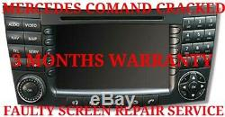 Mercedes Comand Sat Nav Repair Service Gps Faulty Or Damaged Screen Replacement