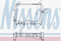 NISSENS 60362 RADIATOR ENGINE COOLING Right