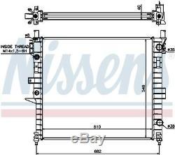 NISSENS Engine Coolant Radiator 62787A (SPEC ORDER non-UK stock)