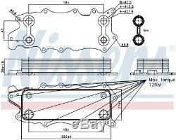 NISSENS Engine Oil Cooler 90784