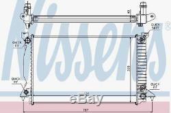 Nissens 60314A Radiator fit AUDI A 4 3.0 TDI 03