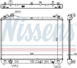 Nissens 64201 Engine Coolant Radiator Next working day to UK