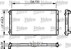 Wasserkühler Motorkühlung VALEO für VW Transporter T4 Kasten 2.5L 1995-2003
