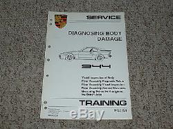 1982 Porsche 944 Dommages Corps Feuille De Travail Magasin De Réparation Manuel 1983 1984 1985