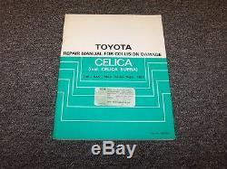 1984-1985 Toyota Celica Supra & Collision Service Boutique Manuel De Réparation De Dommages