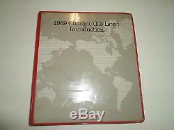 1989 Manuel De Réparation Service Daihatsu Charade 3 Volume Set Endommagé Oem 89 Eau