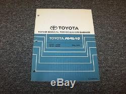 2004-2005 Toyota Rav4 Crossover Ateliers De Réparation Collision Damage Manuel 2.0l