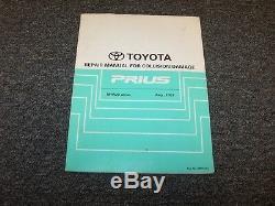 2007 2008 2009 Toyota Prius Shop Service Manuel De Réparation Après Dommages Par Collision, 1,5 L