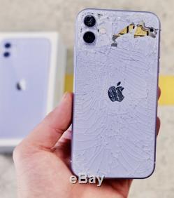 Iphone 11 Cracked Cassé Damage Retour En Verre Service De Réparation Noir Blanc Rouge Etc