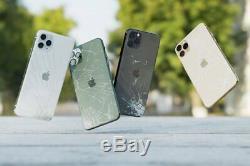 Iphone 11 Pro Max Logement Service De Réparation Cracked Cassé Dommages Arrière En Verre Arrière