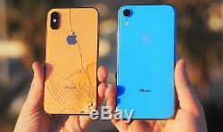 Iphone-8-8-plus-x-xr-xs Max Cracked Cassé Damage Retour En Verre Service De Réparation