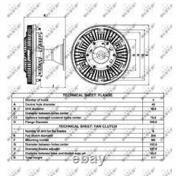 Lüfterkern/viscokupplung Für Iveco Eurocargo Tector Nrf 49056