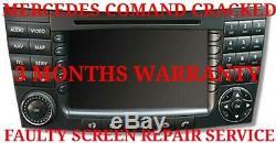 Mercedes Comand Sat Nav Service De Réparation Gps Défectueux Ou Endommagé Remplacement De L'écran