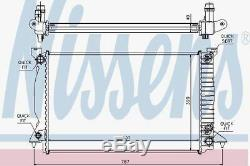 Nissens 60314a Radiateur Adapter Audi A 4 3.0 Tdi 03