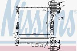 Nissens 62559a Radiateur Pour Mercedes Classe V V200 CDI 99
