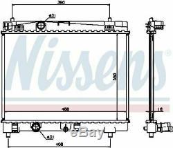 Nissens 64671a Engine Radiateur De Refroidissement Man