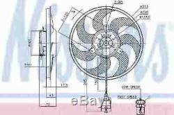 Nissens De Refroidissement Du Moteur Du Ventilateur De Radiateur 85754 G Nouveau Oe Remplacement