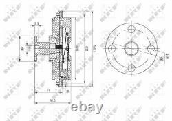 Nrf 49634 Ventilateur Radiateur Pour Ford, Mazda