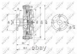 Radiateur Fan Viscous Embrayage Volvo740 940 760, II 2 960 1306259 1266788