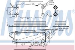 Refroidisseur D'huile 90784 Pour Mercedes-benz Mercedes-benz Classe R R 280 CDI Hq