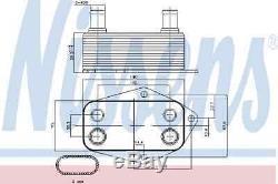 Refroidisseur D'huile Moteur Huile Pour Bmw 3 E46 Touring 3 M47 J20 E46 5 E39 Nissens