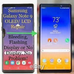 Samsung Galaxy Note 9 Dommages Cracked Écran Oled LCD Réparation Mail Service