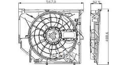 Tyc Radiateur Ventilateur De Refroidissement Convient Bmw E46 Coupé Domaine Berline 1998-2007