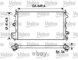 Valeo Kühler Motorkühlung 734339 Für Opel Saab
