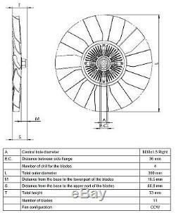 Ventilateur De Refroidissement Du Radiateur D'embrayage Nrf 49563 P Nouveau Oe Remplacement